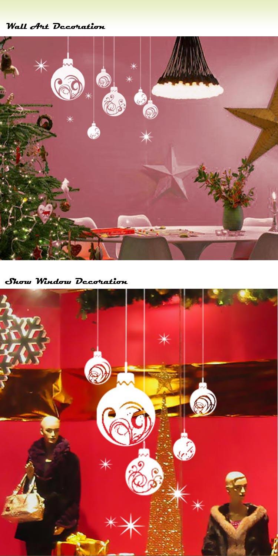 Christmas Ball Wall Decor : Extra large christmas ball show window wall art