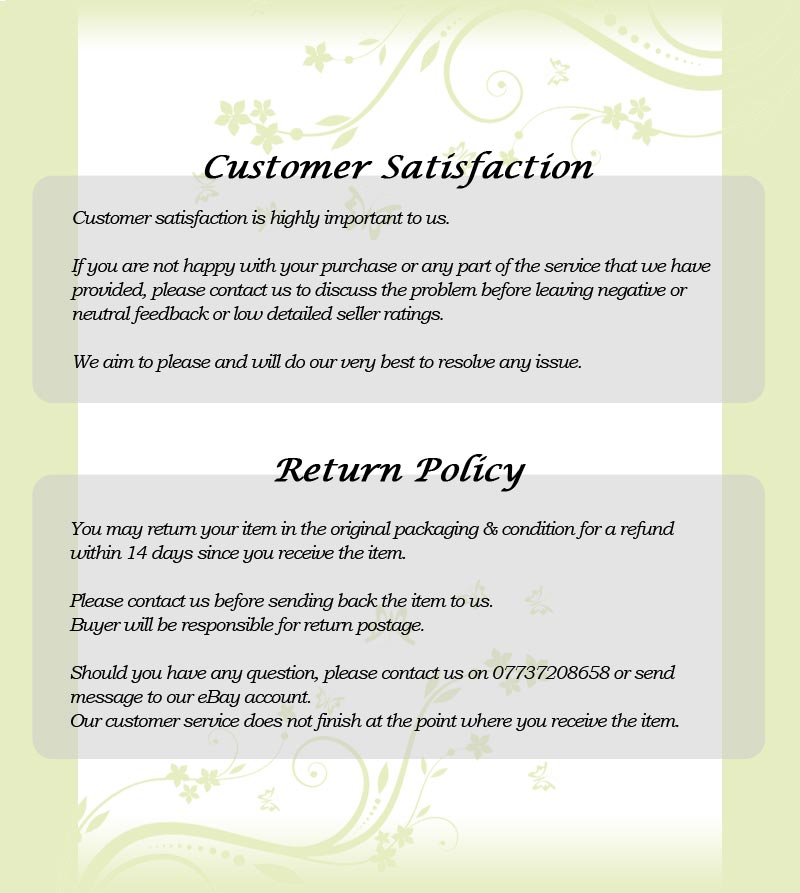 refund policy template